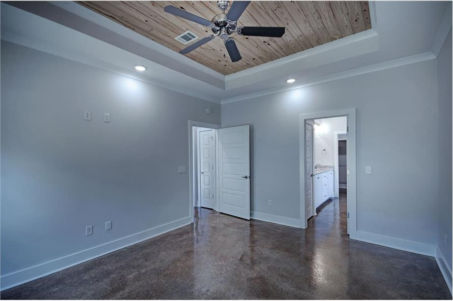 Master Bedroom of this 3-Bedroom,1581 Sq Ft Plan -1581