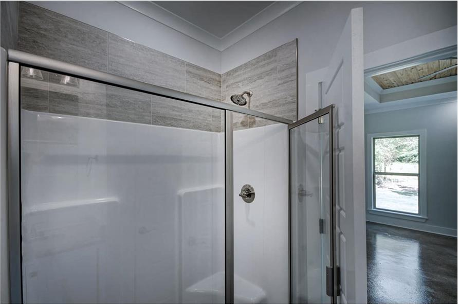 Master Bathroom: Shower of this 3-Bedroom,1581 Sq Ft Plan -1581