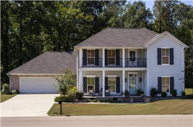 4-Bedroom, 2402 Sq Ft Colonial Home - Plan #140-1102 - Main Exterior