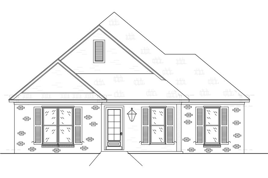 Home Plan Front Elevation of this 3-Bedroom,2415 Sq Ft Plan -140-1106