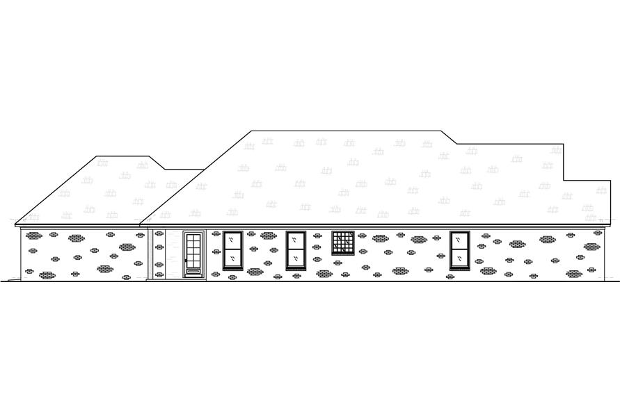 Home Plan Left Elevation of this 3-Bedroom,2415 Sq Ft Plan -140-1106