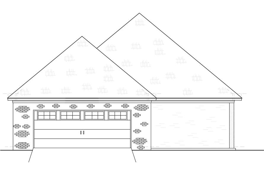 Home Plan Rear Elevation of this 3-Bedroom,2415 Sq Ft Plan -140-1106