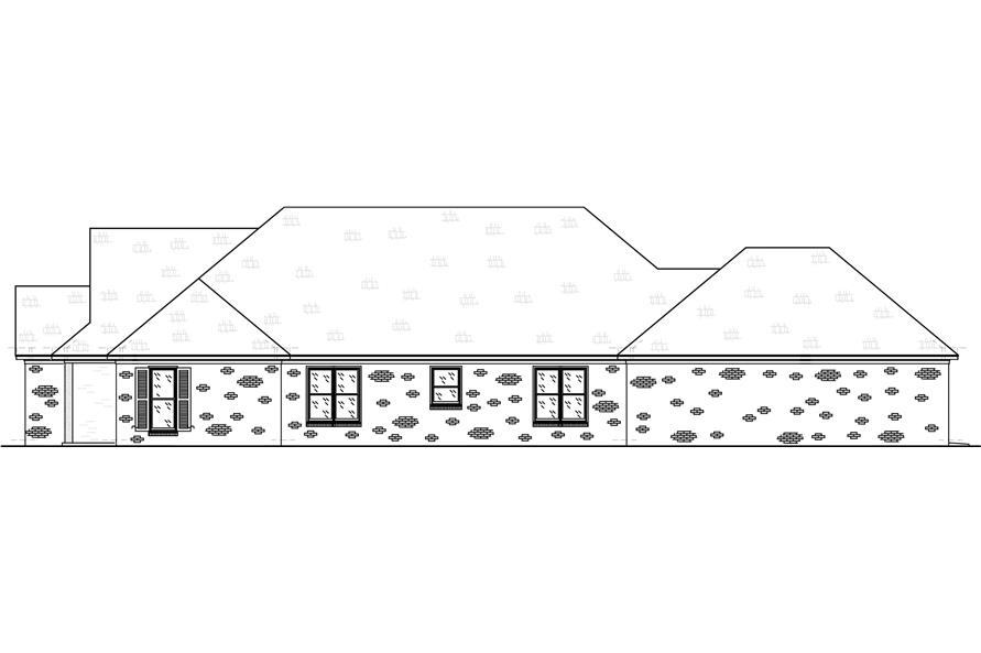 Home Plan Right Elevation of this 3-Bedroom,2415 Sq Ft Plan -140-1106