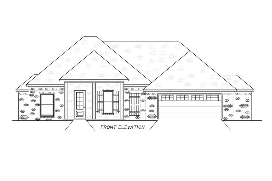 Home Plan Front Elevation of this 3-Bedroom,1946 Sq Ft Plan -140-1111