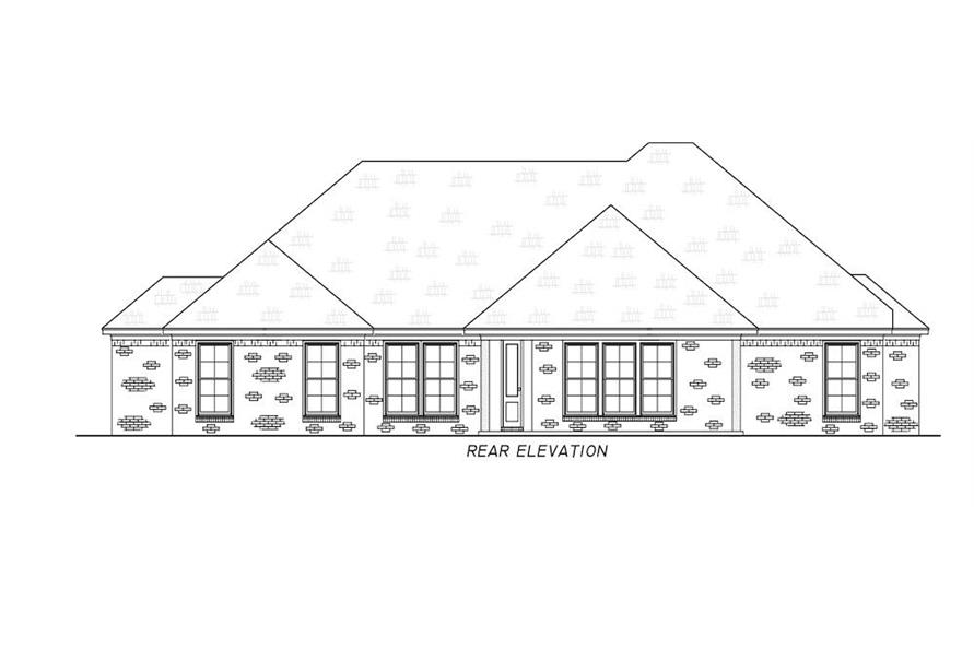 Home Plan Rear Elevation of this 3-Bedroom,1946 Sq Ft Plan -140-1111