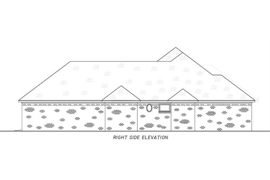 Home Plan Right Elevation of this 3-Bedroom,1946 Sq Ft Plan -140-1111