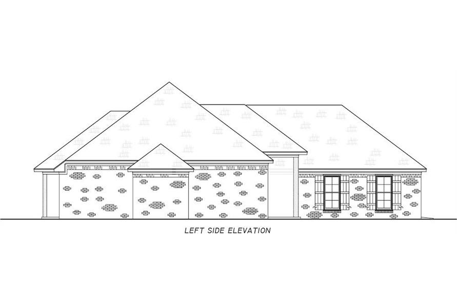 Home Plan Left Elevation of this 3-Bedroom,1946 Sq Ft Plan -140-1111