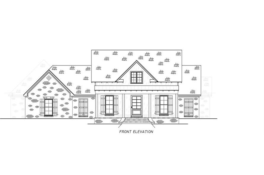 Home Plan Front Elevation of this 4-Bedroom,2513 Sq Ft Plan -140-1112