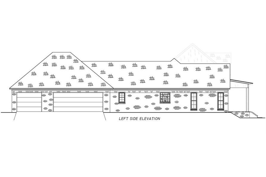 Home Plan Left Elevation of this 4-Bedroom,2513 Sq Ft Plan -140-1112