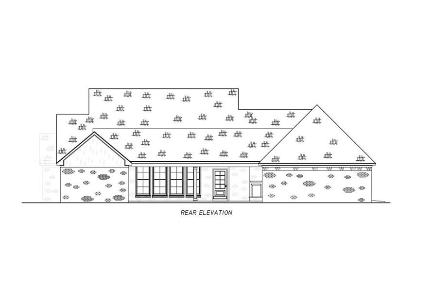 Home Plan Rear Elevation of this 4-Bedroom,2513 Sq Ft Plan -140-1112