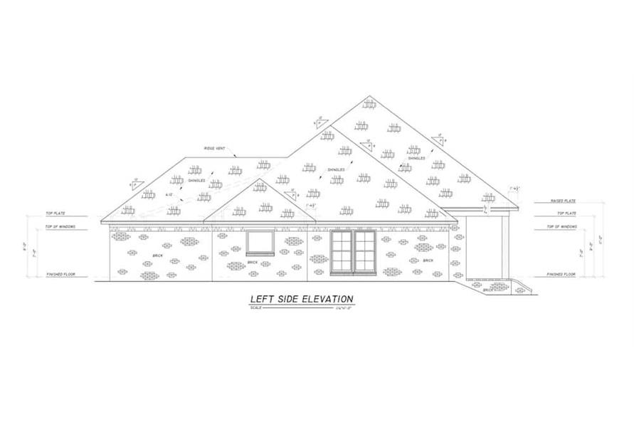 Home Plan Left Elevation of this 4-Bedroom,2694 Sq Ft Plan -140-1114