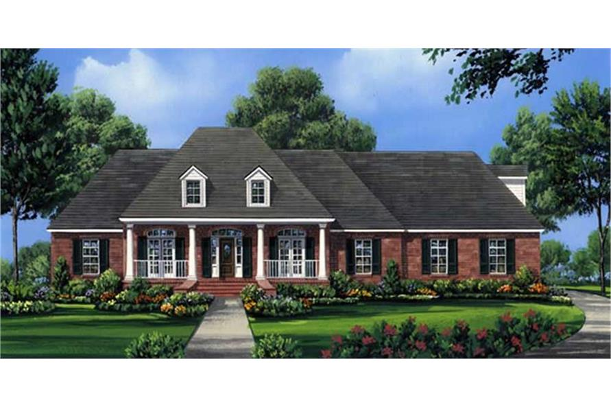 Home Plan Rendering of this 4-Bedroom,2755 Sq Ft Plan -2755