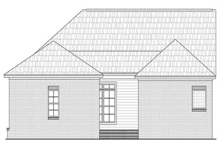 Home Plan Rear Elevation of this 3-Bedroom,2050 Sq Ft Plan -141-1002