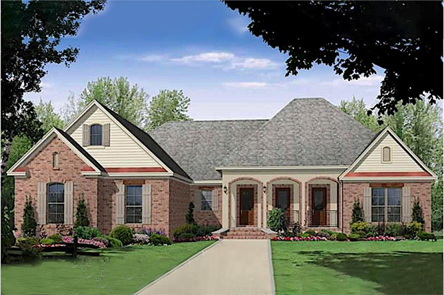 3-Bedroom, 2200 Sq Ft Acadian Home Plan - 141-1003 - Main Exterior