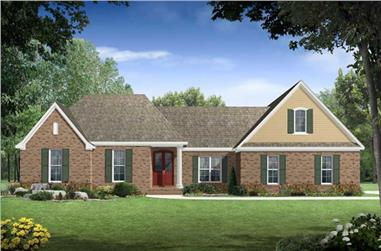 4-Bedroom, 3000 Sq Ft Country House Plan - 141-1005 - Front Exterior