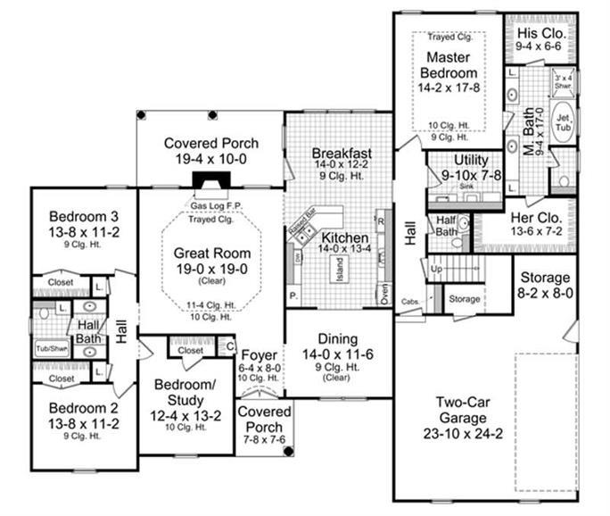 Home Design Plan 141 1005