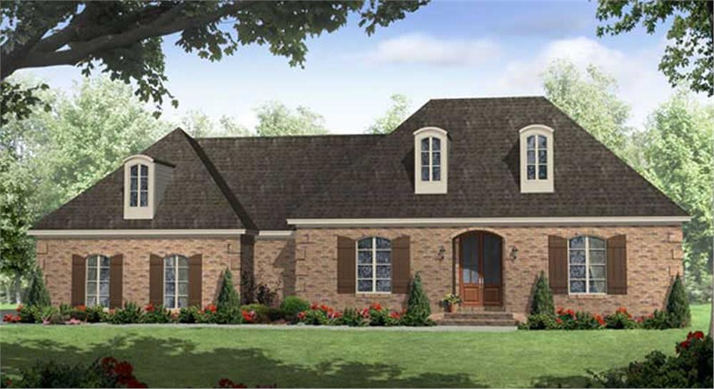 Front elevation of Country home (ThePlanCollection: House Plan #141-1006)