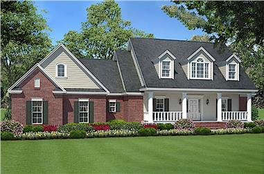 3-Bedroom, 1635 Sq Ft Country House Plan - 141-1007 - Front Exterior