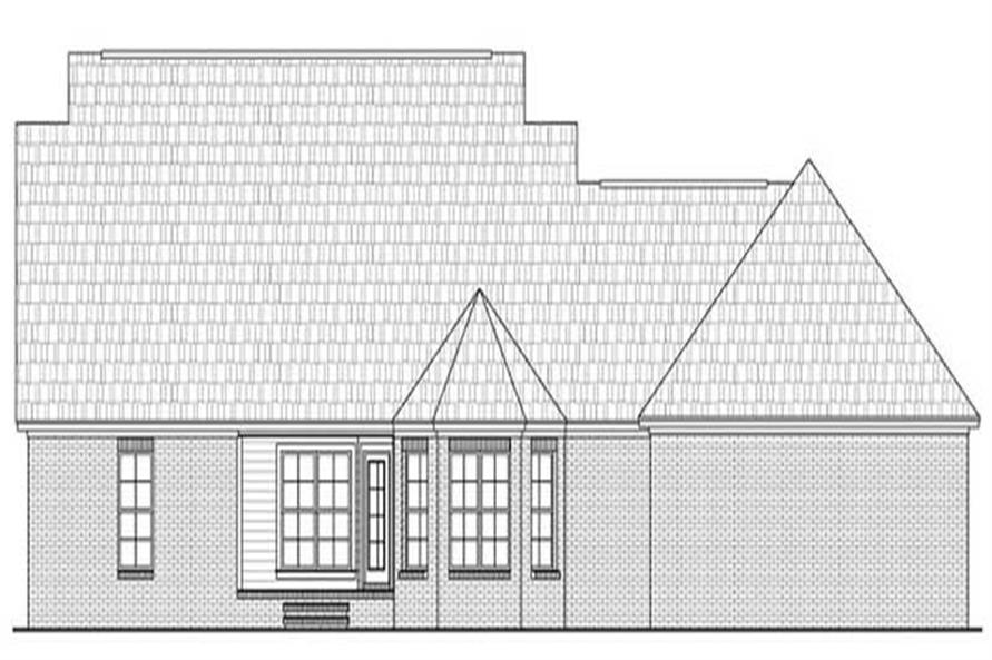 Home Plan Rear Elevation for HPG-1635
