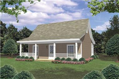 2-Bedroom, 800 Sq Ft Country Cabin - 141-1008 - Front Exterior
