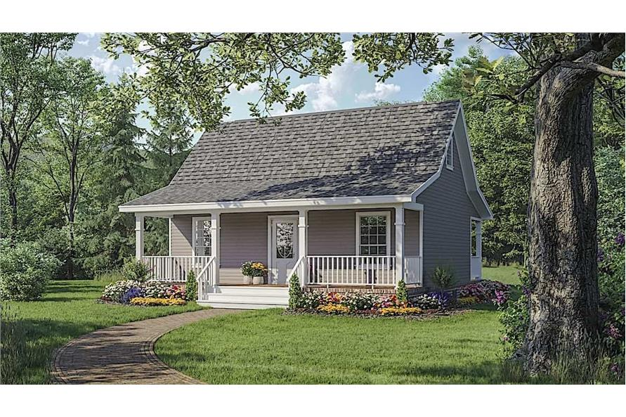2-Bedroom, 800 Sq Ft Country Cabin - Plan #141-1008 - Front Exterior