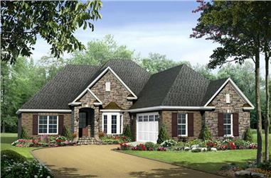 3-Bedroom, 1917 Sq Ft Acadian House Plan - 141-1009 - Front Exterior