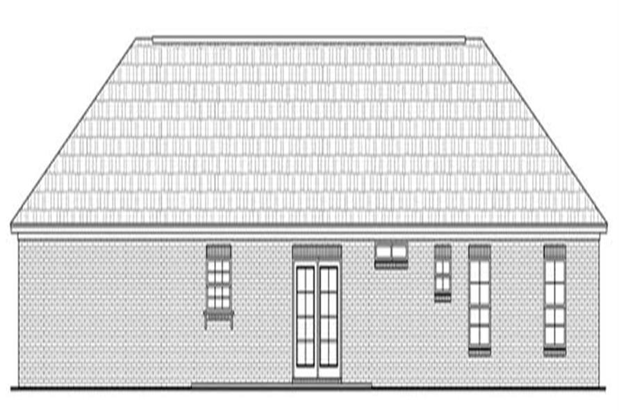 Home Plan Rear Elevation of this 3-Bedroom,1570 Sq Ft Plan -141-1010