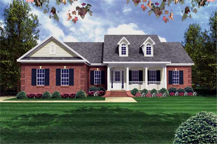 3-Bedroom, 1508 Sq Ft Country Home Plan - 141-1012 - Main Exterior