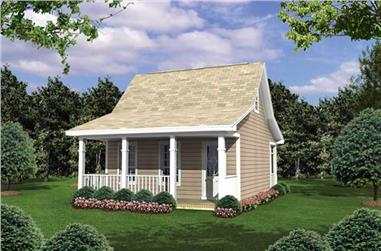 1-Bedroom, 400 Sq Ft Country Home Plan - 141-1015 - Main Exterior