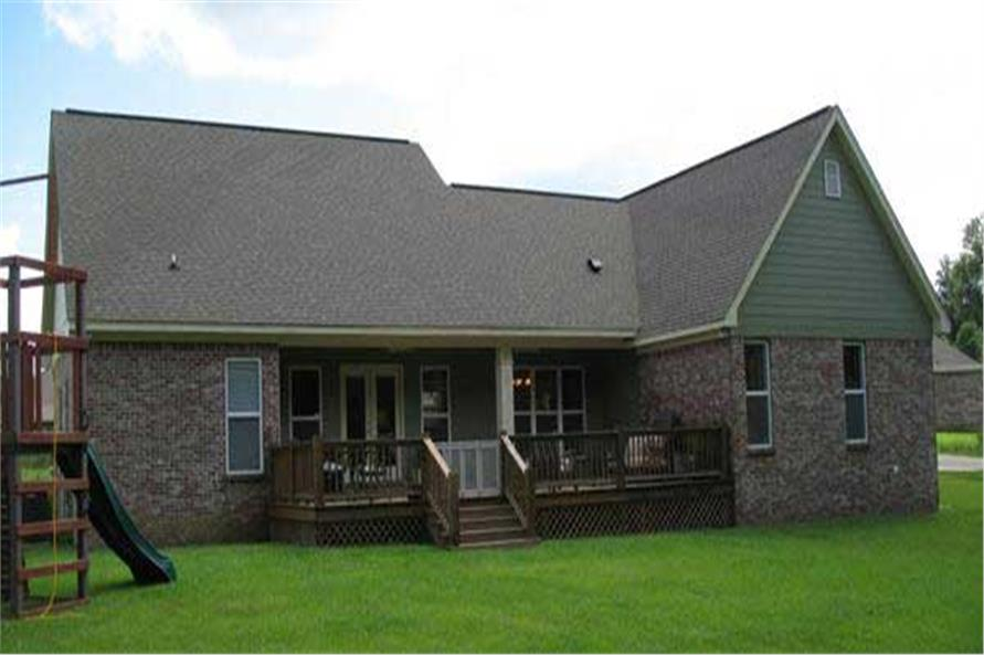 Rear View of this 3-Bedroom,1800 Sq Ft Plan -1800