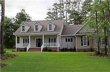 3-Bedroom, 1800 Sq Ft Country House Plan - 141-1017 - Front Exterior