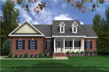 3-Bedroom, 1604 Sq Ft Country Home Plan - 141-1018 - Main Exterior