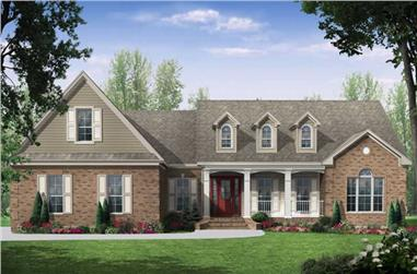 Front elevation of Country home (ThePlanCollection: House Plan #141-1023)