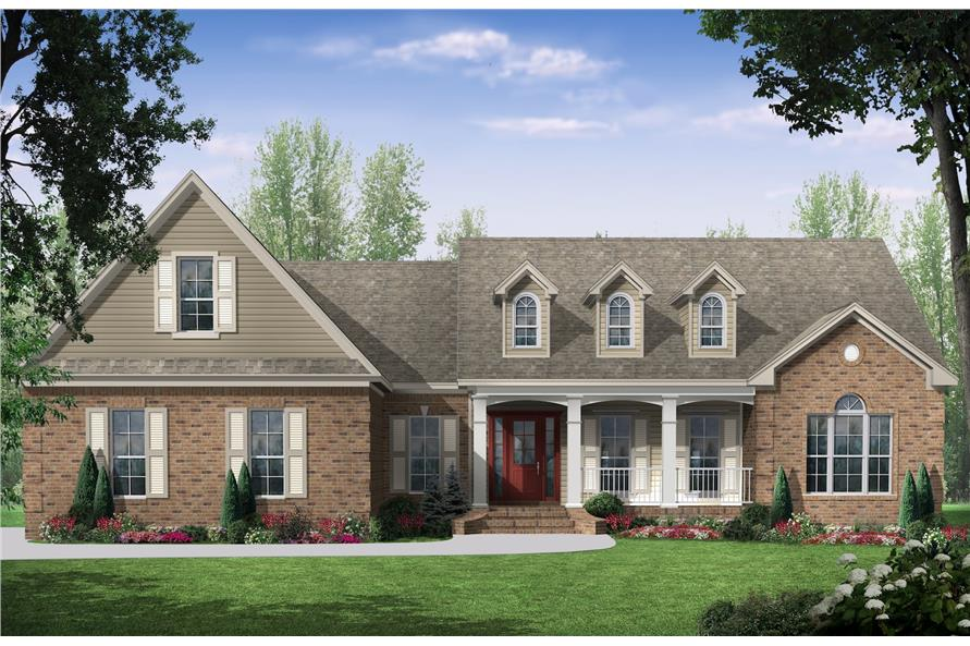Home Plan Rendering of this 3-Bedroom,2000 Sq Ft Plan -2000