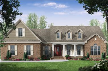 3-Bedroom, 2000 Sq Ft Country Home - Plan #141-1023 - Main Exterior