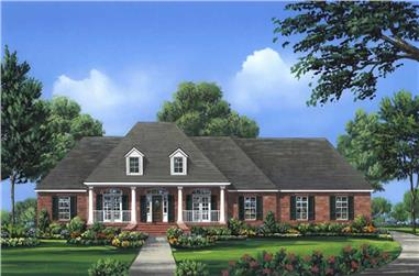 4-Bedroom, 2601 Sq Ft Acadian House Plan - 141-1024 - Front Exterior