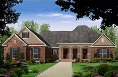 Color rendering of European Country Home Plan #141-1025