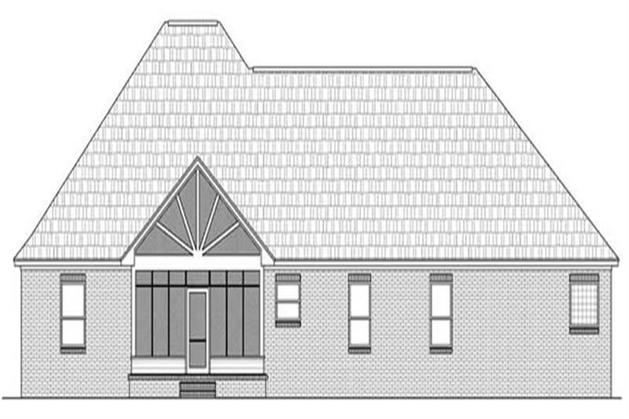 Home Plan Rear Elevation of this 3-Bedroom,2216 Sq Ft Plan -141-1025