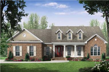 3-Bedroom, 2000 Sq Ft Country Home Plan - 141-1026 - Main Exterior