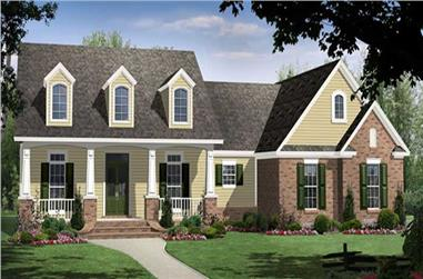 4-Bedroom, 3739 Sq Ft Cape Cod Home Plan - 141-1028 - Main Exterior