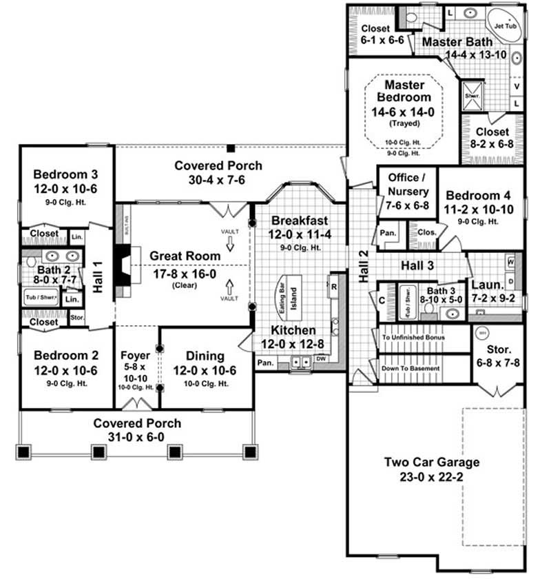 Floor Plan First Story for country house plans # HPG-2266-1