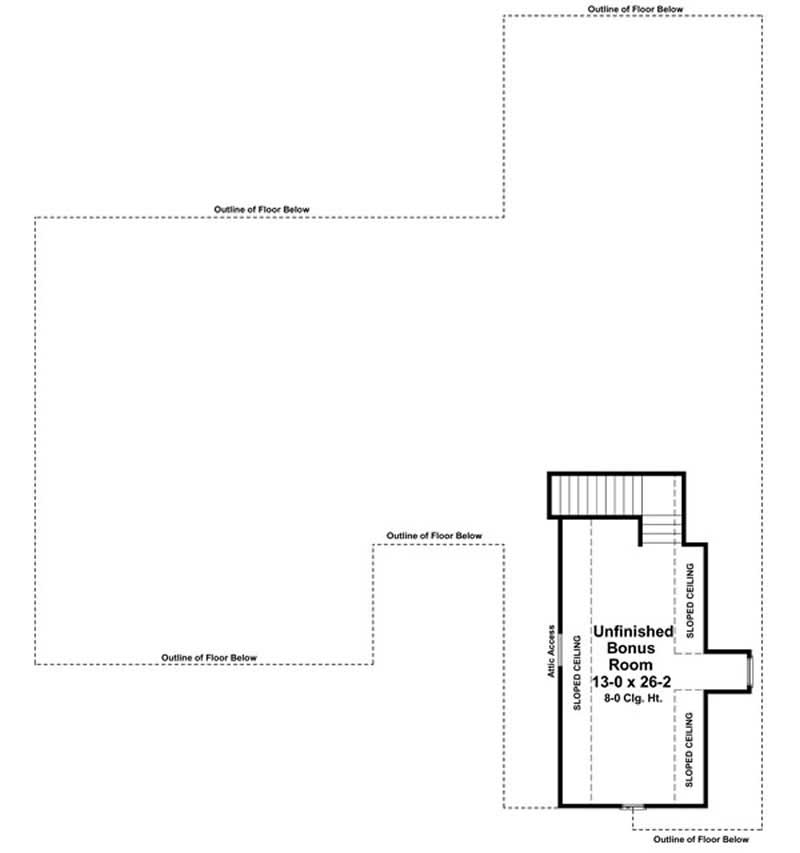 Floor Plan Bonus Room for country house plans # HPG-2266-1