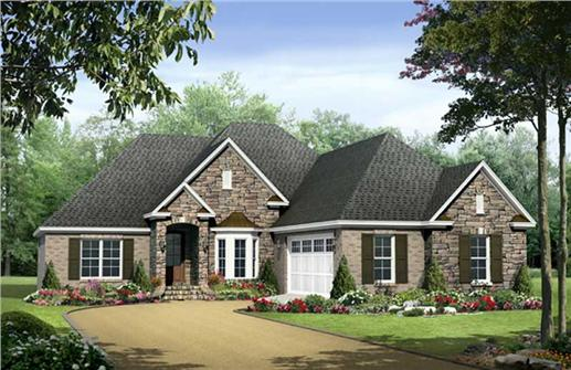 Traditional Country European House Plans Home Design