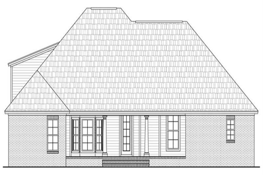 Home Plan Rear Elevation of this 3-Bedroom,1898 Sq Ft Plan -141-1029