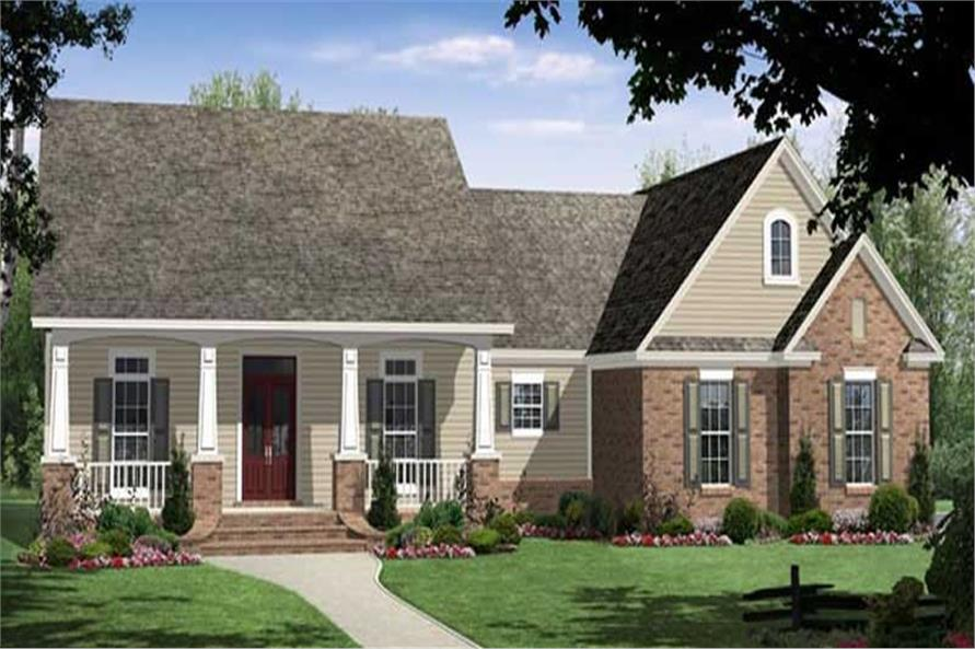 3-Bedroom, 1816 Sq Ft Country Home Plan - 141-1030 - Main Exterior