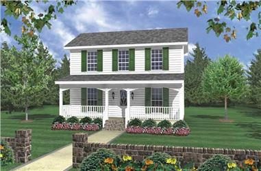 3-Bedroom, 1200 Sq Ft Country Home Plan - 141-1031 - Main Exterior