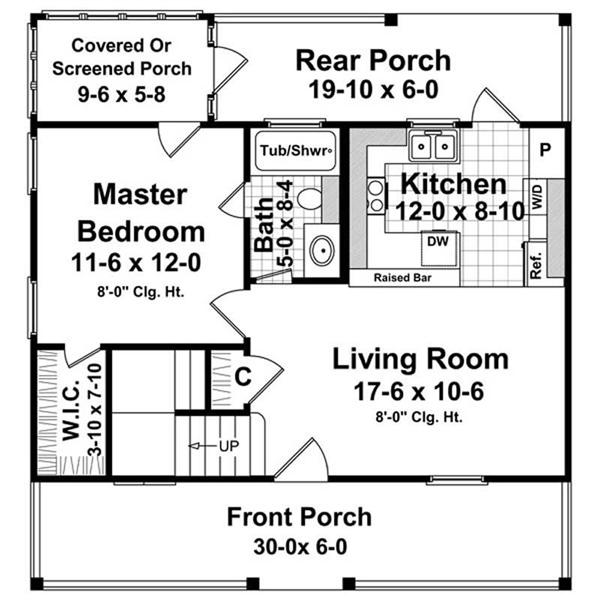 House Plan HPG-12002-1 Main Floor Plan