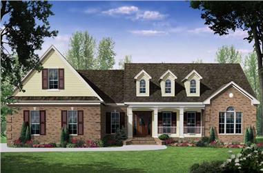 3-Bedroom, 2418 Sq Ft Country Home Plan - 141-1033 - Main Exterior
