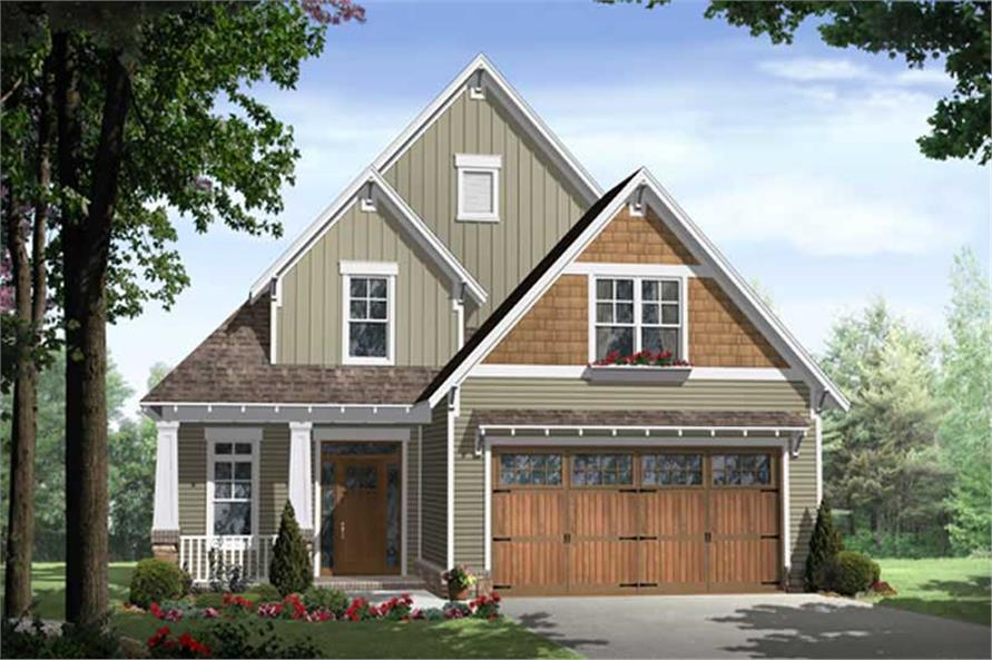 3-Bedroom, 1802 Sq Ft Craftsman Home Plan - 141-1034 - Main Exterior