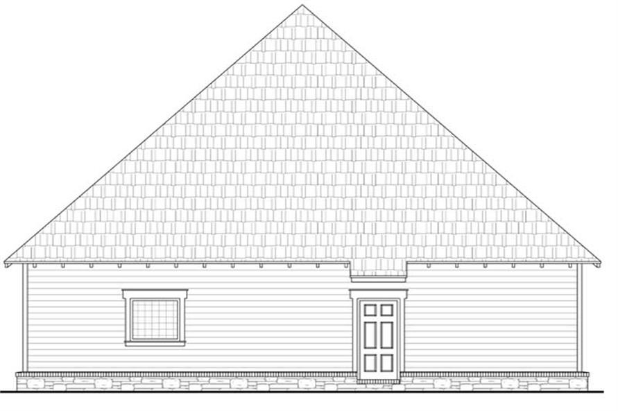 Home Plan Rear Elevation of this 3-Bedroom,1802 Sq Ft Plan -141-1034